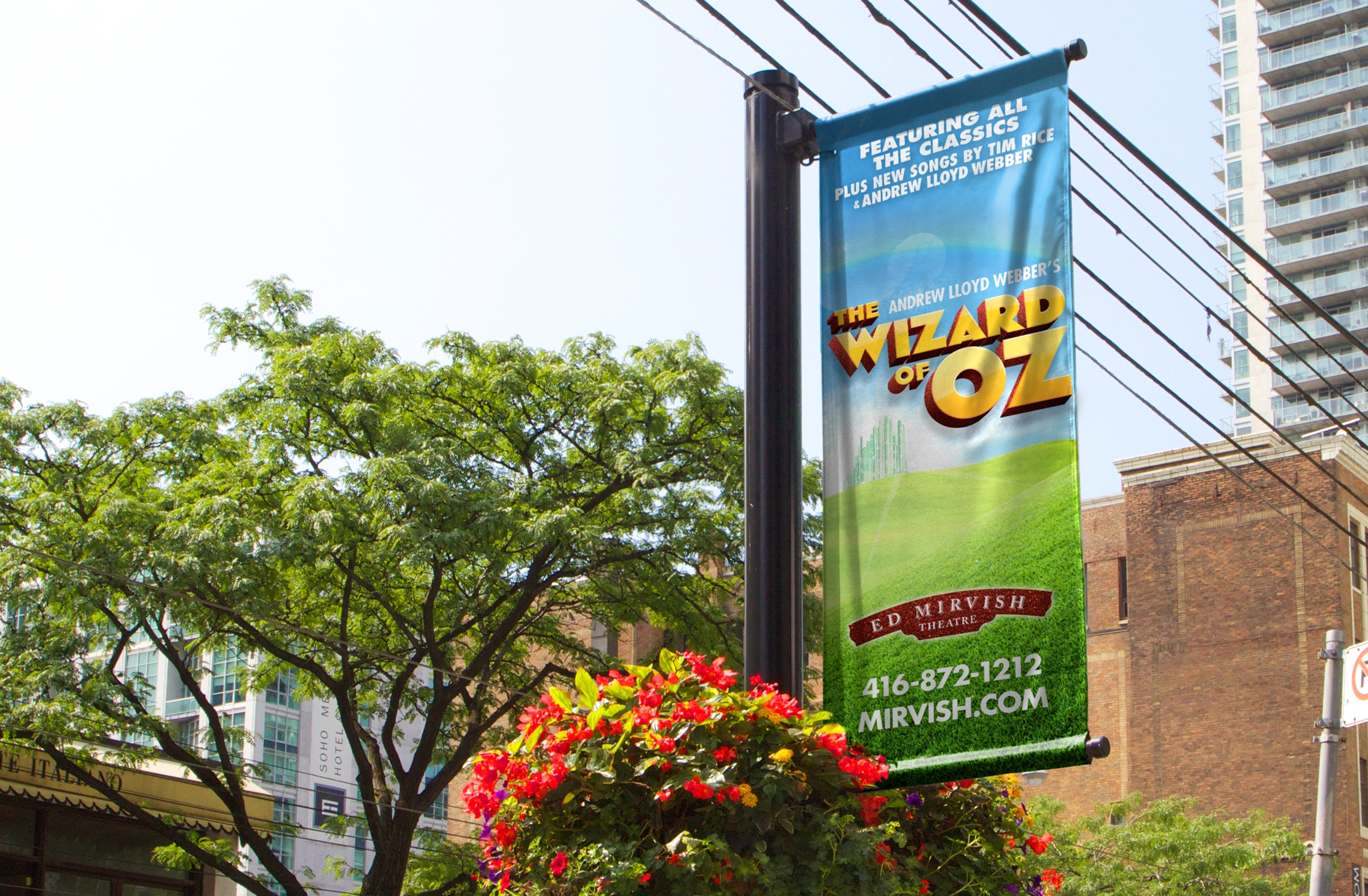The Wizard of Oz Pole Banner
