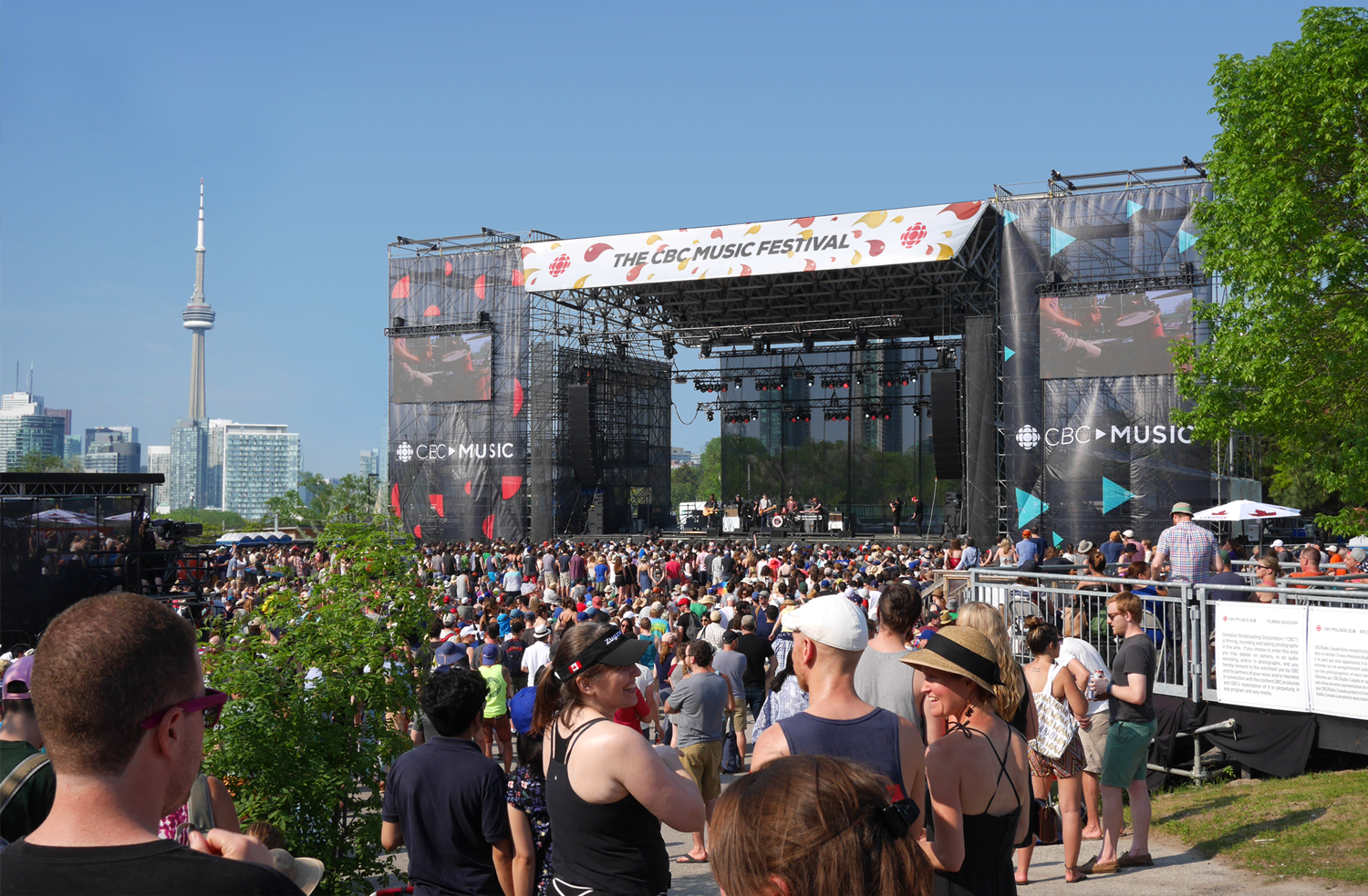 CBC Music Festival Stage Banner