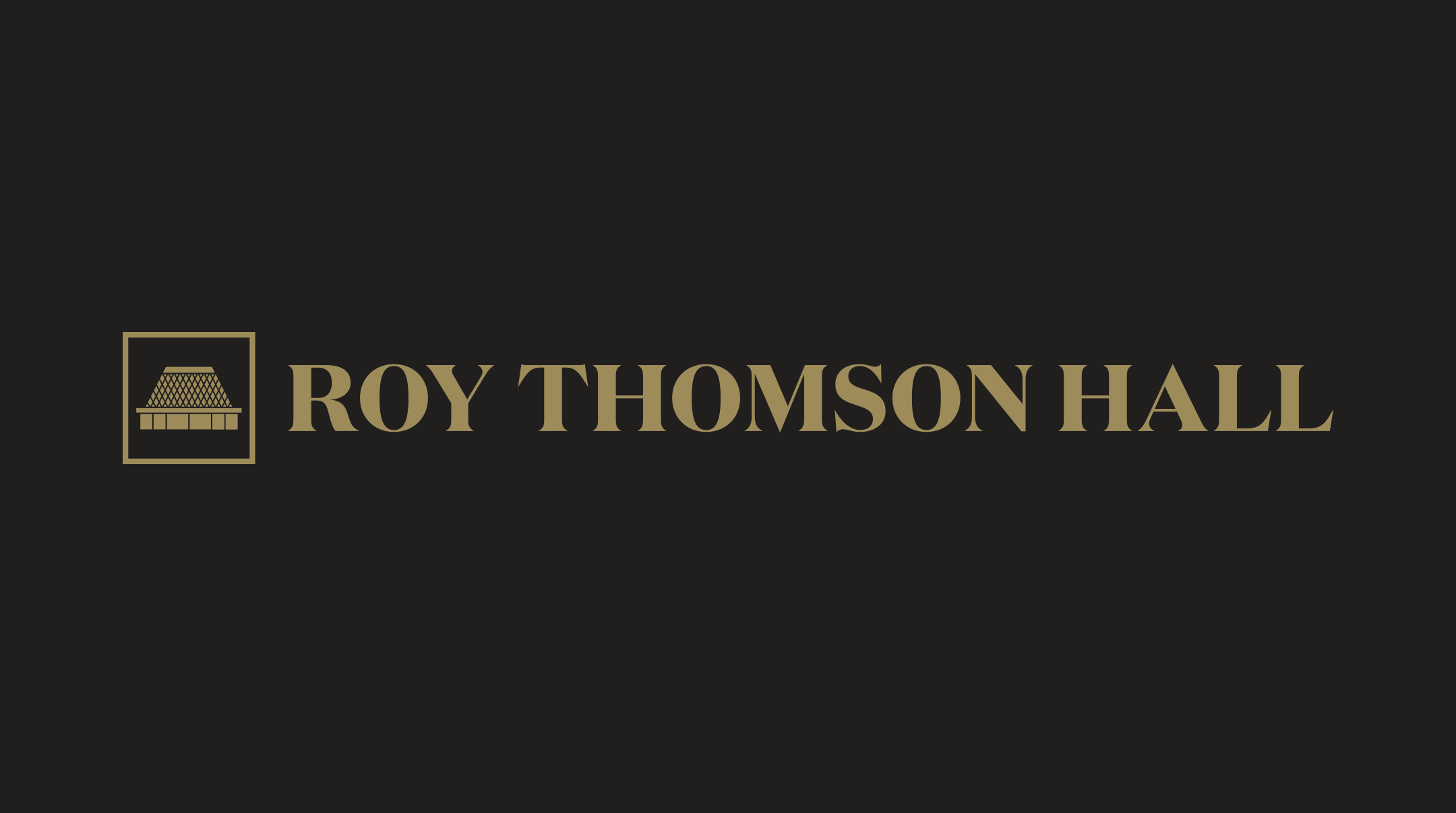 Roy Thomson Hall Wordmark